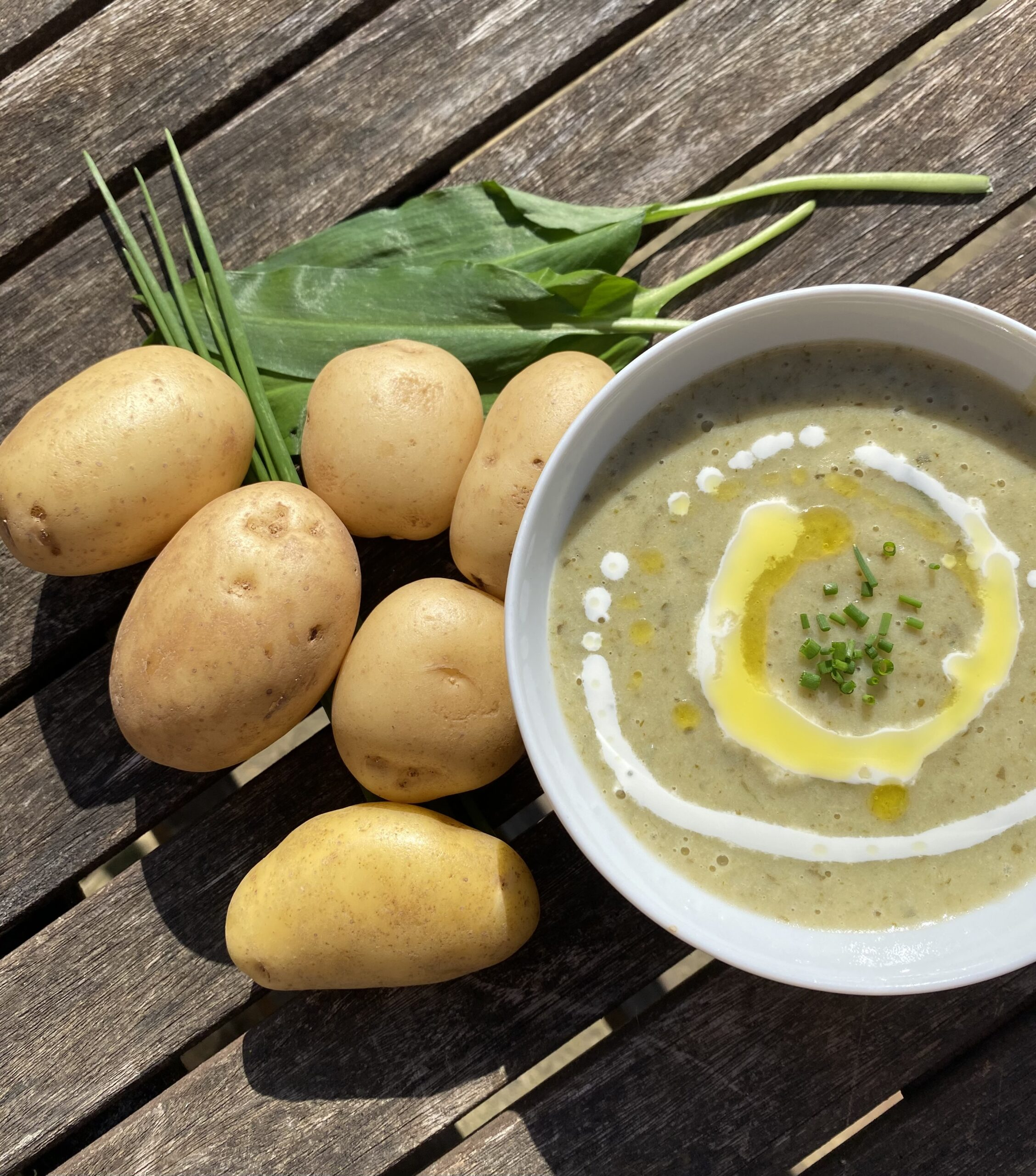 Recipe: Foraged Wild Garlic & potato soup