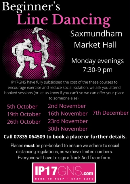 Free Line Dancing Classes are a hit with Saxmundham!